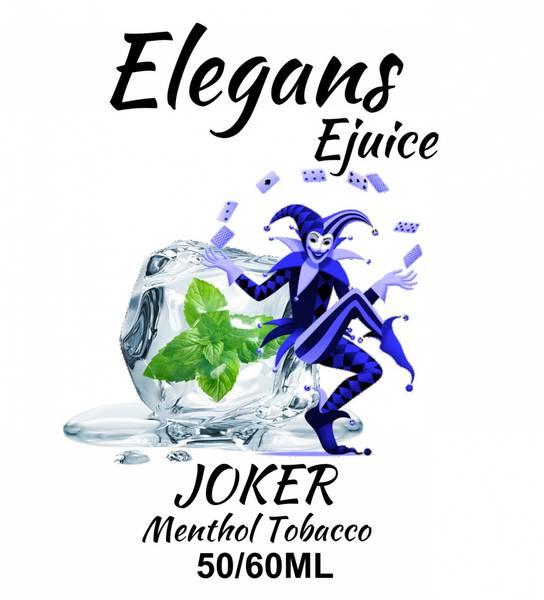 Bilde av Elegans - Joker Tobacco Menthol, Ejuice 50/60 ml